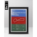 Plakat Formuła 1 GP Azerbejdżanu